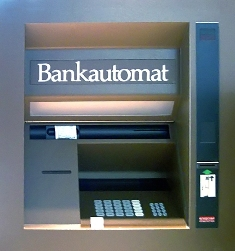 Geldautomat der Firma Nixdorf