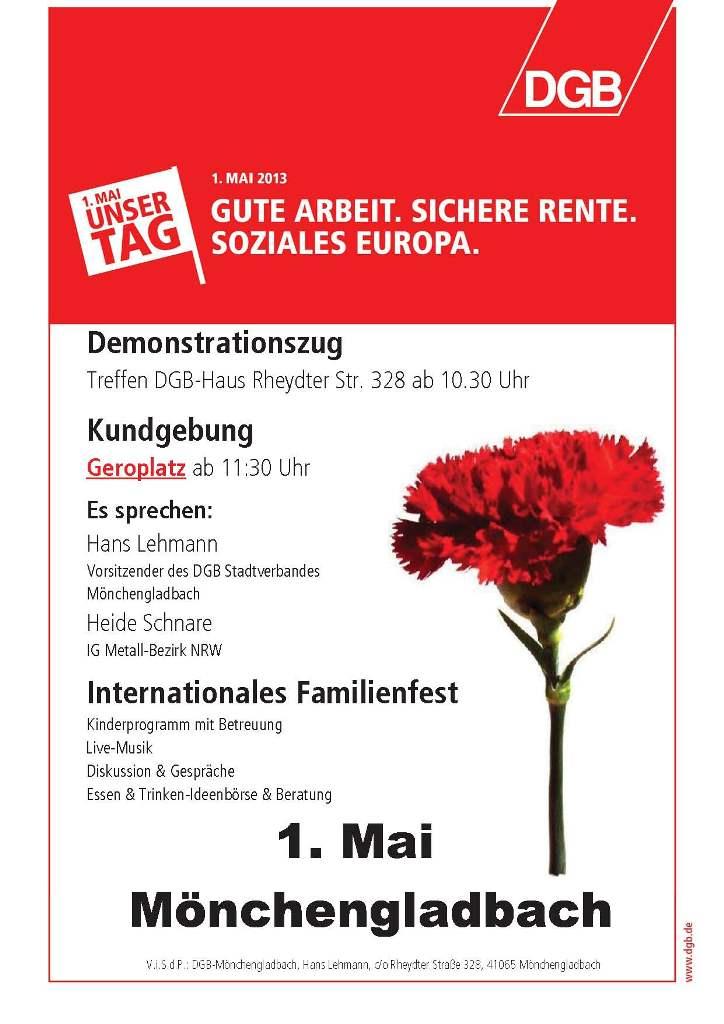 Flugblatt MG 1  Mai 2013