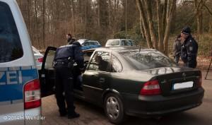 Polizeikontrolle Parkplatz Hauptfriedhof-0014