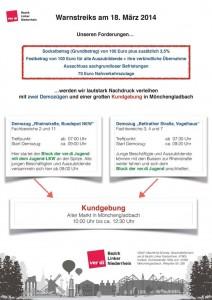 öD Warnstreik Kundgebung + Demo 18 märz 14