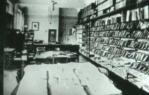 Lesesaal des Volksvereins im Jahr 1925(Foto: Stadtarchiv)