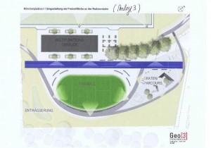 neue Planung der Radrennbahn