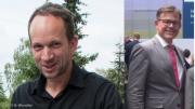 NEW-Aufsichtsratvorsitzender Dr. Schlegelmilch (CDU); NEW-Vorstandsvorsitzender Frank Kindervatter